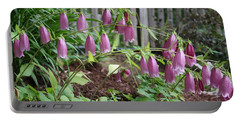 Spray Of Pink Bell Flowers Portable Battery Charger