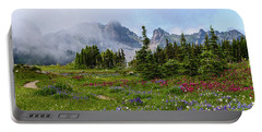 Spray Park In Mount Rainier Portable Battery Charger