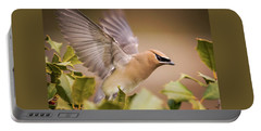 Spread Your Wings Cedar Waxwing  Portable Battery Charger