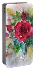 Portable Battery Charger featuring the painting Spring For You by Jasna Dragun
