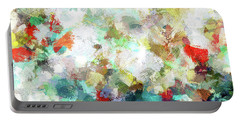 Portable Battery Charger featuring the painting Spring Abstract Art / Vivid Colors by Ayse Deniz