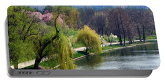Spring At The Lake Portable Battery Charger by Judi Saunders