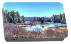 Portable Battery Charger featuring the photograph Spring Scene At The Tobie Trail Bridge by David Patterson