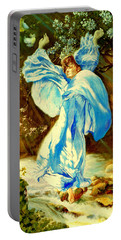 Portable Battery Charger featuring the painting Spring - Awakening by Henryk Gorecki
