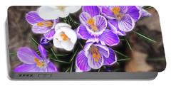 Portable Battery Charger featuring the photograph Spring Beauties by Terri Harper