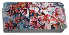 Portable Battery Charger featuring the painting Spring Beauty by Kovacs Anna Brigitta