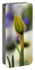 Portable Battery Charger featuring the photograph Spring Blooms In The Snow by Chris Berry