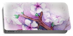 Spring Blooms Portable Battery Charger by Rebecca Davis