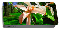 Portable Battery Charger featuring the photograph Spring Blossom Open Wide by Jeff Swan