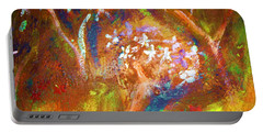 Portable Battery Charger featuring the painting Spring Blossom by Winsome Gunning