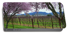 Spring Blossoms Near Calistoga Portable Battery Charger