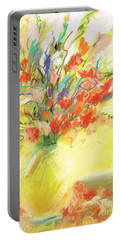 Portable Battery Charger featuring the painting Spring Bouquet by Frances Marino