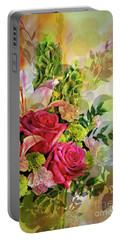 Spring Bouquet Portable Battery Charger by Maria Urso