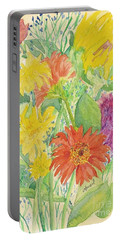 Portable Battery Charger featuring the painting Spring Bouquet  by Vicki  Housel