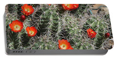 Spring Cactus Portable Battery Charger by Kathy Bassett