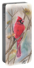 Spring Cardinal Portable Battery Charger