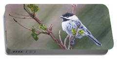 Spring Chickadee Portable Battery Charger by Wendy Shoults