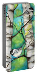 Spring Chickadees Portable Battery Charger