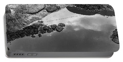 Spring Clouds Puddle Reflection Portable Battery Charger