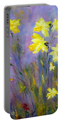 Portable Battery Charger featuring the painting Spring Daffodils by Claire Bull