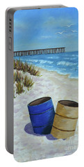 Spring Day On The Beach Portable Battery Charger by Val Miller