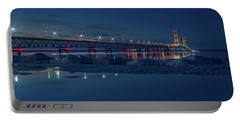 Spring Evening At The Mackinac Bridge Portable Battery Charger