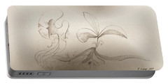Portable Battery Charger featuring the mixed media Spring Feelings 2 by Denise Fulmer