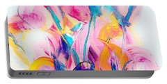 Spring Floral Abstract Portable Battery Charger