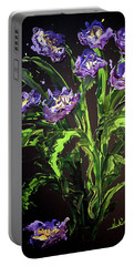 Spring Floral Portable Battery Charger by Alan Lakin