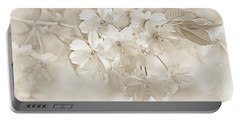 Portable Battery Charger featuring the photograph Spring Flower Blossoms Soft Brown by Jennie Marie Schell