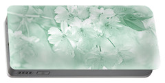 Portable Battery Charger featuring the photograph Spring Flower Blossoms Teal by Jennie Marie Schell