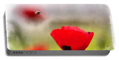 Spring Flowering Poppies Portable Battery Charger