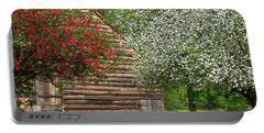 Spring Flowers And The Barn Portable Battery Charger