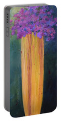 Portable Battery Charger featuring the painting Spring Flowers by Nancy Jolley