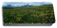 Spring Flowers On The Front Portable Battery Charger