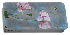 Spring Flowers  Portable Battery Charger by Reina Resto