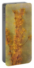 Spring Forsythia Portable Battery Charger by Catherine Alfidi