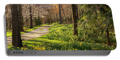 Spring Garden Path Portable Battery Charger
