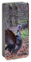 Portable Battery Charger featuring the photograph Spring Gobbler by Bill Wakeley