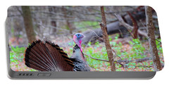 Portable Battery Charger featuring the photograph Spring Gobbler Square by Bill Wakeley