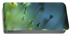 Portable Battery Charger featuring the photograph Spring Grass by Yulia Kazansky