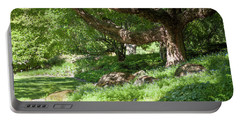 Portable Battery Charger featuring the photograph Spring Greenery  by Jenny Rainbow