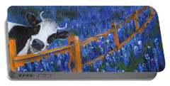 Portable Battery Charger featuring the painting Spring Has Sprung by Jamie Frier