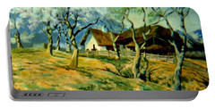 Portable Battery Charger featuring the painting Spring In Poland by Henryk Gorecki