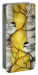 Portable Battery Charger featuring the painting Spring by Inese Poga