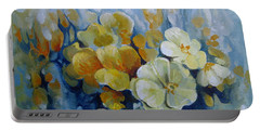 Portable Battery Charger featuring the painting Spring Inflorescence by Elena Oleniuc