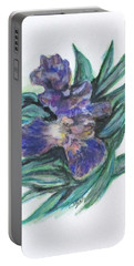 Spring Iris Bloom Portable Battery Charger