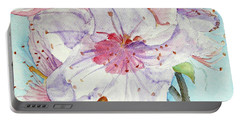 Portable Battery Charger featuring the painting Spring by Jasna Dragun