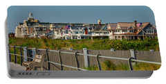 Portable Battery Charger featuring the photograph Spring Lake Boardwalk View by Kristia Adams