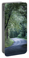 Portable Battery Charger featuring the photograph Spring Light On A Forest Road by Parker Cunningham